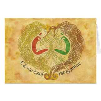 Celtic Lovers Card