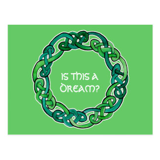 Celtic Lucid Dreaming Reality Check Postcard