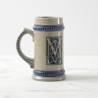 Celtic M Monogram Beer Stein