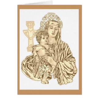 Celtic Madonna Card