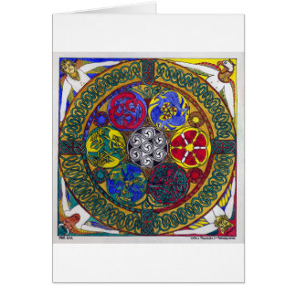 Celtic Mandala 1: Resurrection (card) Greeting Card