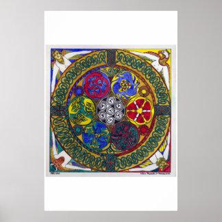 Celtic Mandala 1: Resurrection (print) Poster