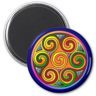 Celtic Markings 6 Cm Round Magnet