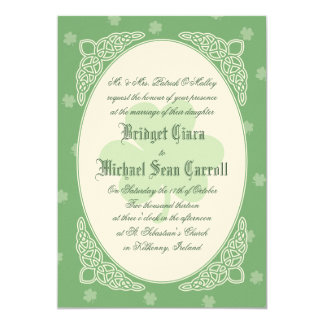 Celtic Mist Wedding Invitation - Green