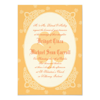Celtic Mist Wedding Invitation - Peach