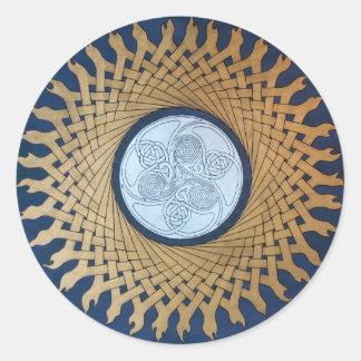 Celtic Moon Classic Round Sticker