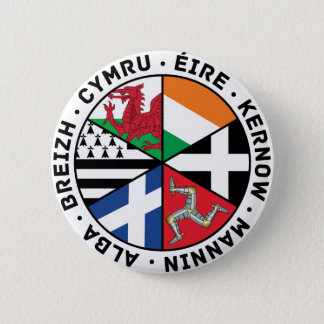 Celtic Nations Flags 6 Cm Round Badge