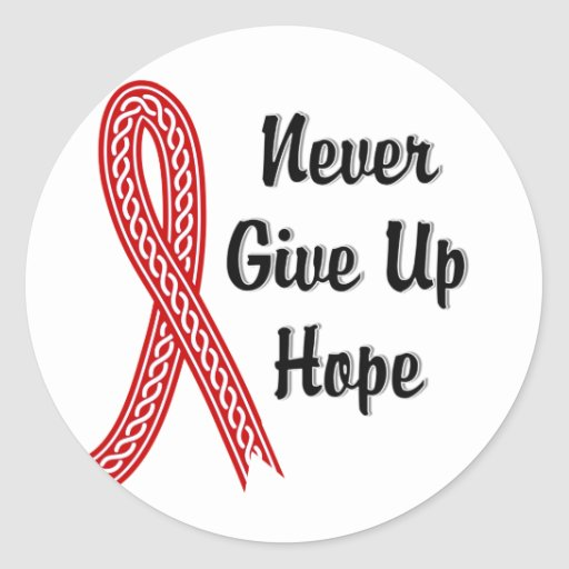 Celtic Never Give Up Hope AIDS Stickers