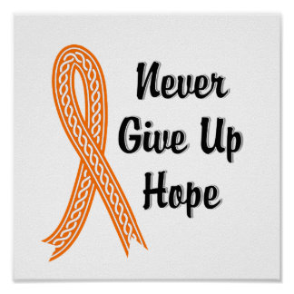 Celtic Never Give Up Hope Multiple Sclerosis Poster
