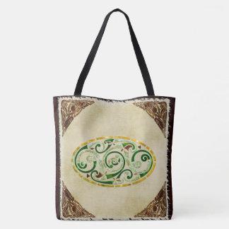 Celtic Old Traditional Folk Art Tote Bag