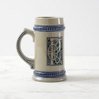 Celtic P Monogram Beer Stein