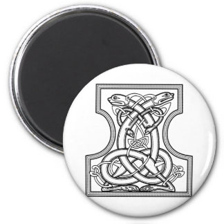 Celtic pattern - black and white fridge magnets