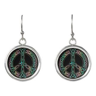 Celtic Peace - Celtic Knot Peace Sign Earrings