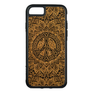 Celtic Peace Sign Mandala Carved iPhone 8/7 Case