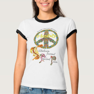 Celtic Peace Sign with Latin Quote and Welsh T-Shirt