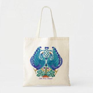 Celtic Peacocks Budget Tote Bag