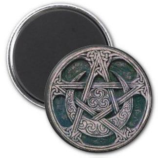 celtic pentacle 6 cm round magnet