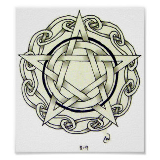 Celtic Pentacle Poster