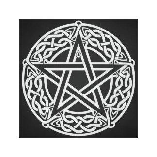 Celtic Pentagram Canvas Print