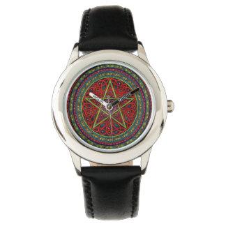 Celtic Pentagram Time Piece Watch