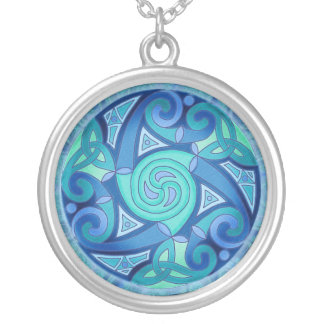 Celtic Planet Pendant Necklace
