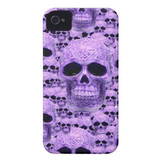 Celtic purple skull collage iPhone 4 Case-Mate case
