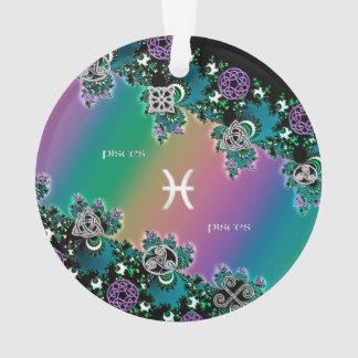 Celtic Rainbow Fractal Zodiac Sign Pisces