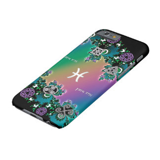 Celtic Rainbow Fractal Zodiac Sign Pisces Barely There iPhone 6 Case