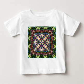 Celtic Rainbow Heart Stained Glass Mandala Baby T-Shirt