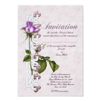"Celtic Rose Wedding 5"" X 7"" Invitation Card"