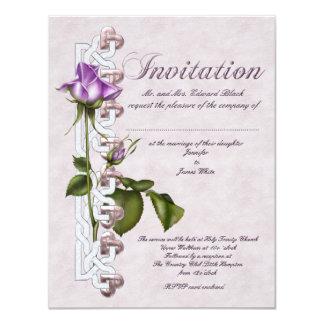 "Celtic Rose Wedding 4.25"" X 5.5"" Invitation Card"