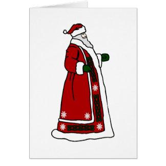 Celtic Santa Claus Greeting Card