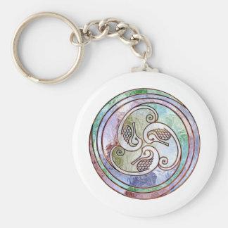 celtic seahorses key ring