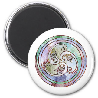 celtic seahorses 6 cm round magnet