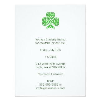 Celtic Shamrock 11 Cm X 14 Cm Invitation Card