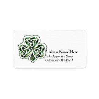 Celtic Shamrock Design 2 Address Labels 1