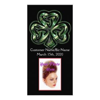 Celtic Shamrock Design 2 Photo Card