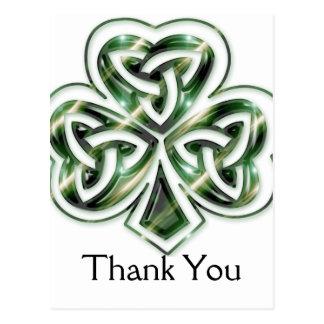 Celtic Shamrock Design 2 Thank You Postcards 2