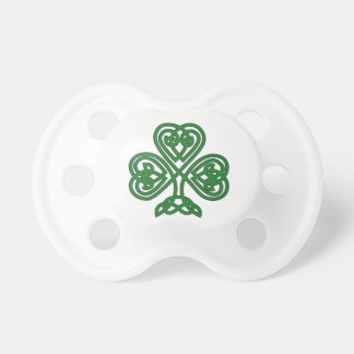 Celtic Shamrock design baby pacifier