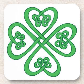Celtic Shamrock Drink Coaster