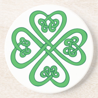 Celtic Shamrock Drink Coasters