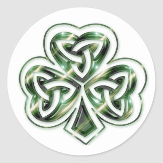 Celtic Shamrock :: Green Space Design Stickers