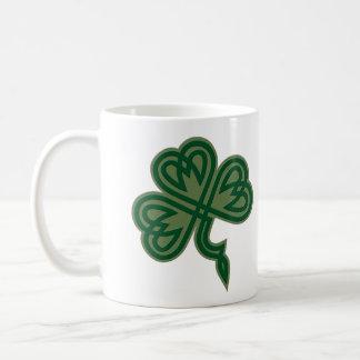 Celtic Shamrock Knot Basic White Mug