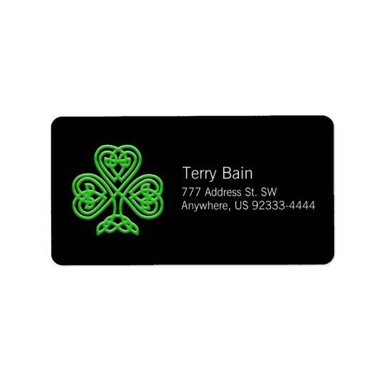 Celtic Shamrock Label