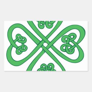 Celtic Shamrock Rectangular Sticker