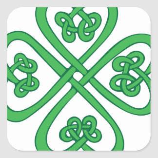 Celtic Shamrock Square Sticker