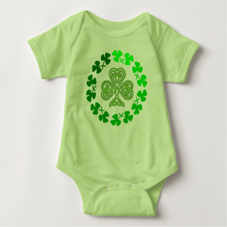 Celtic Shamrock St. Patricks Day design. Baby Bodysuit