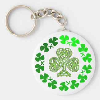 Celtic Shamrock St. Patricks Day design key chains