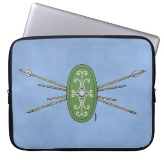 Celtic Shield and Spears Laptop Sleeve
