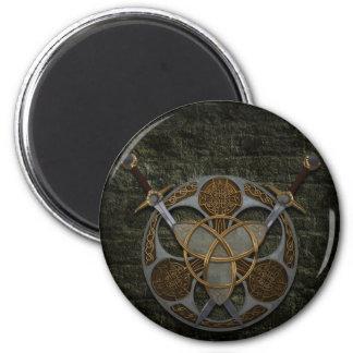 Celtic Shield and Swords Refrigerator Magnet